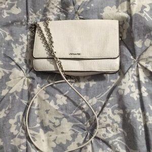 Coach White Leather Crossbody purse